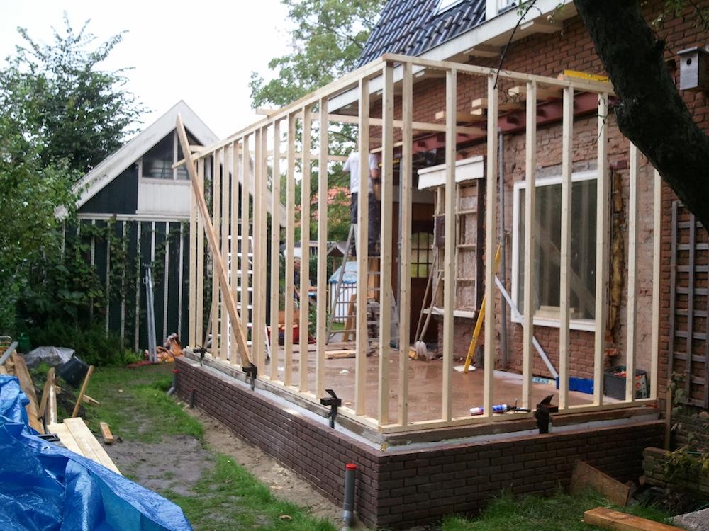 aanbouw zijkant woning timmerbedrijf Ron van Tilburg