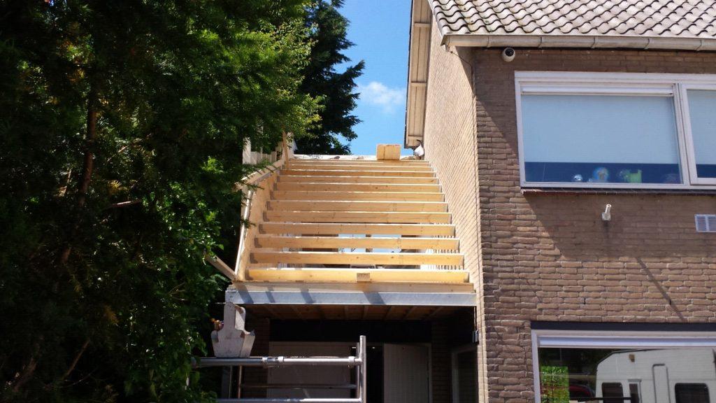 dakopbouw ronddak hout timmerbedrijf